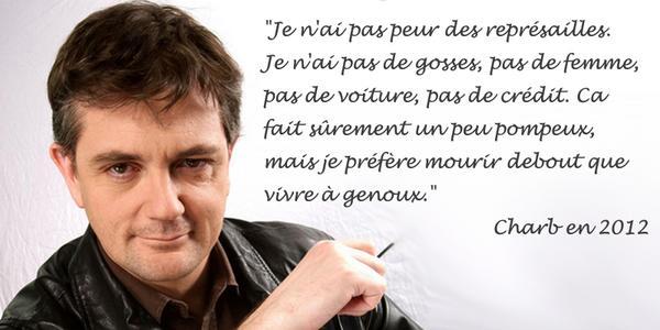 Charb, je porte ton message !